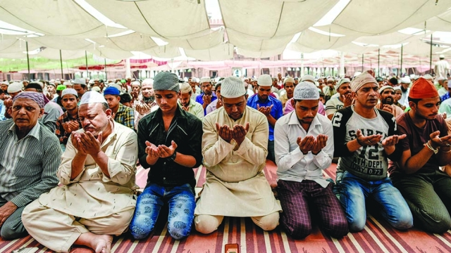 File photo of Muslims offering Namaz