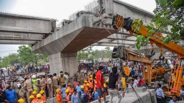 File photo of the under construction flyover in Varanasi where the tragedy took place