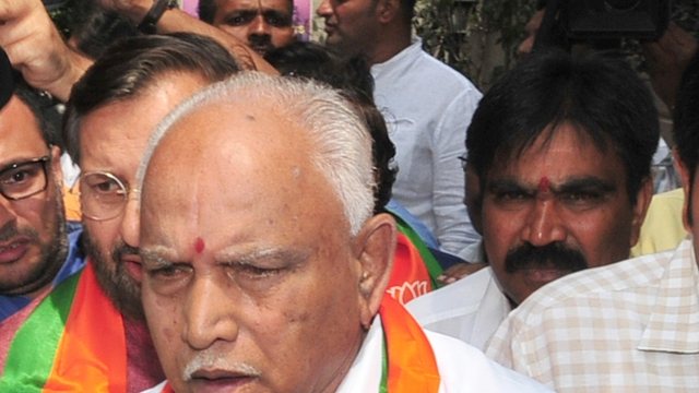 BJP's Chief ministerial candidate B.S. Yeddyurappa