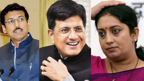 Irani shunted out of I&B, Rathore gets it; Piyush to handle Jaitley's Fin Min