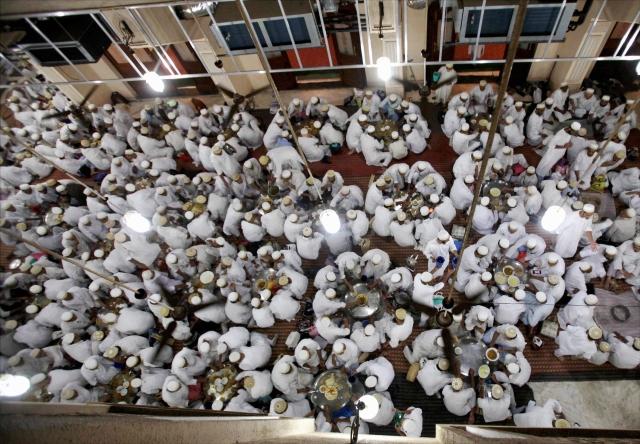 Dawoodi Bohra community on the first day of Ramadan in Mumbai.
