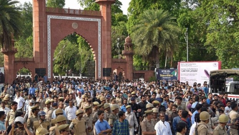 Hamid Ansari, Jinnah's portrait and intimidation of AMU