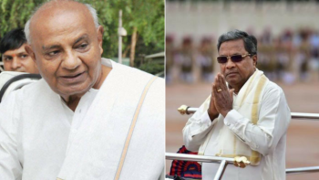 File photos of JD(S) president HD Deve Gowda (left) and Karnataka Chief Minister Siddaramaiah (right)