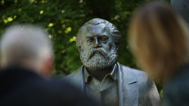 A statue of philosopher and revolutionary Karl Marx on May 4, 2018 in Berlin, Germany. The city of Trier, Marx's birthplace, is holding events today, May 5, to mark the 200th anniversary of Marx's birth. His theories of class struggle predicted that capitalism breeds inherent tensions that will lead to its self-destruction and make way for socialism. Marx's writings became a fundamental basis for revolutionary movements across the globe