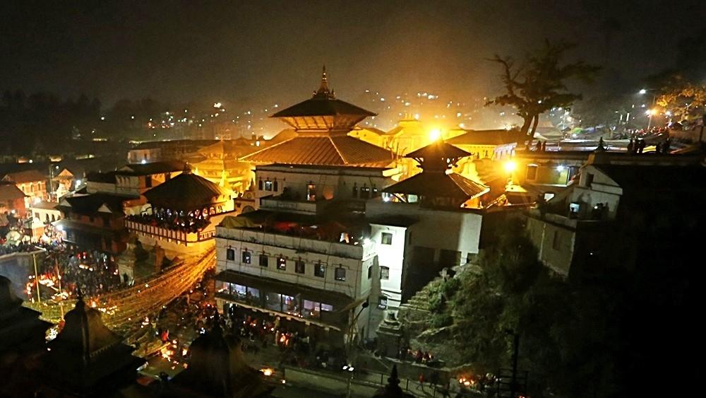 A view of the Pashupatinath Temple in Kathmandu, Nepal