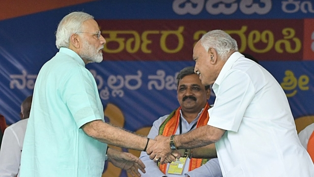 File photo of Prime Minister and BJP leader Narendra Modi and Karnataka BJP chief BS Yeddyurappa