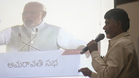 Chandrababu Naidu appeals to Telugu people in Karnataka to defeat BJP