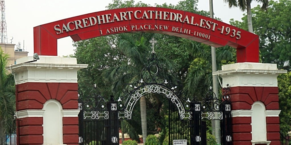 File photo of Sacred Heart Roman Catholic cathedral in New Delhi, seat of the Archbishop of Delhi