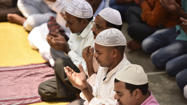 A file photo of Muslims offering prayers during Ramzan