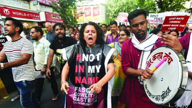 People taking part in Not in my name protest (representative image)