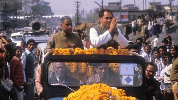 File photo of former Prime Minister of India, late Rajiv Gandhi (August 20, 1944-May 21, 1991)