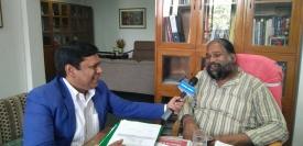 Qazi M Raghib in conversation with NGMA Director General Adwaita Gadanayak