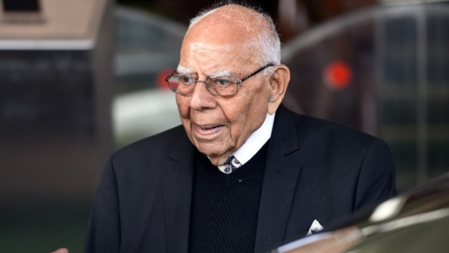 File photo of senior lawyer Ram Jethmalani