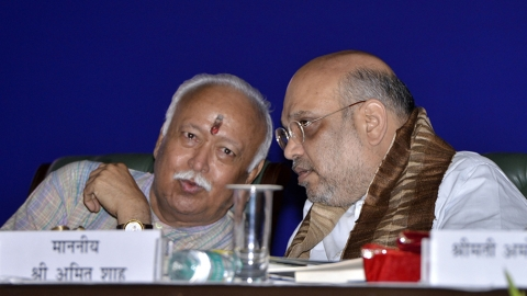 "RSS claims meeting with Amit Shah, BJP union ministers not for ""coordination"""