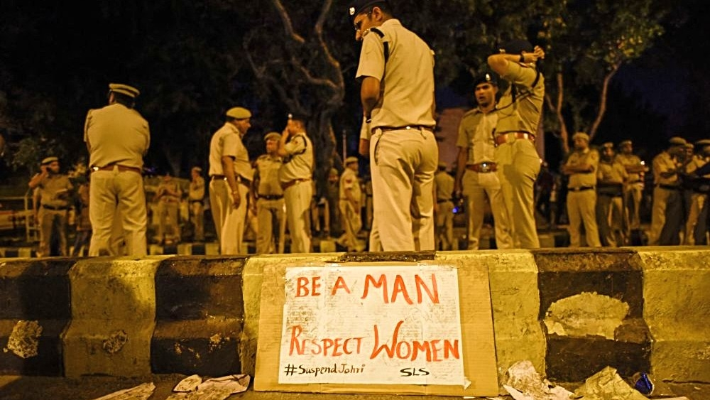 File photo of a JNU students' protest. Representative image