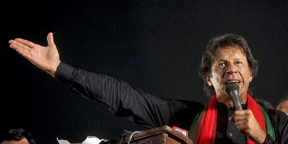 Cricketer-turned-politician, Pakistan Tehreek-e-Insaaf leader Imran Khan