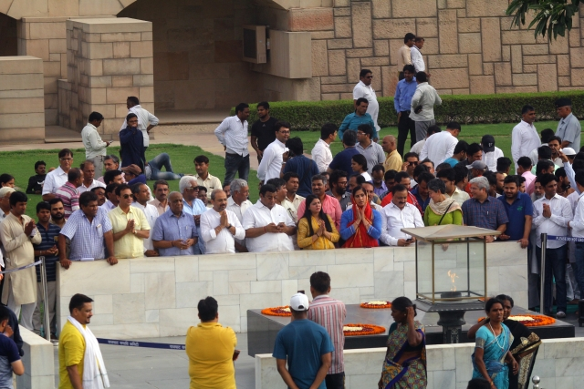 Delhi LG house, no ceasefire offer peace full protest at Raj ghat in New Delhi