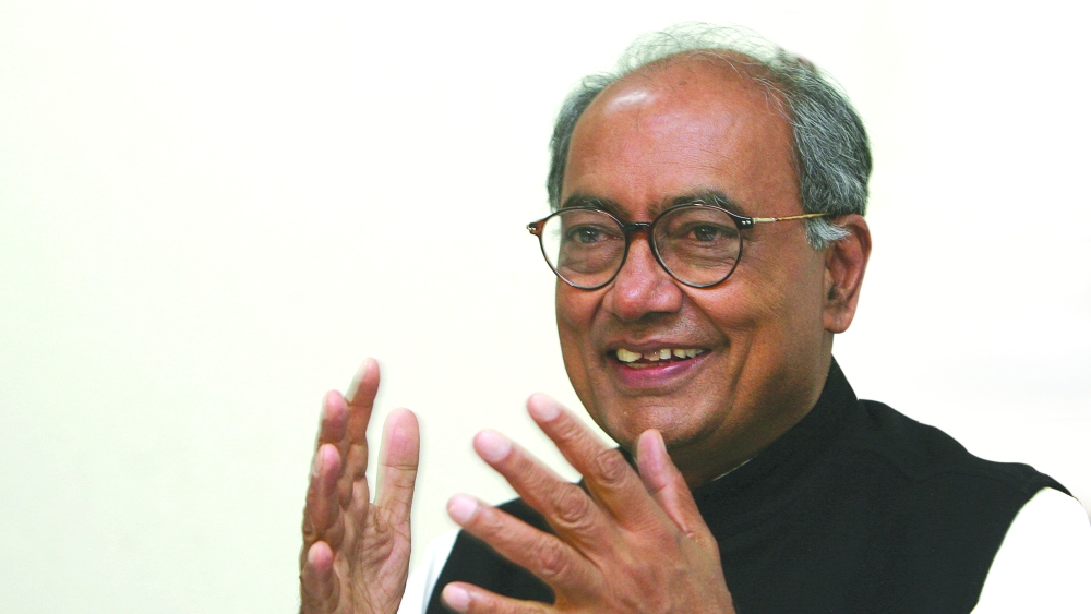A file photo of Congress leader Digvijaya Singh