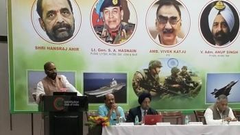 MoS Home Affairs Hansraj Ahir during his address at an event in New Delhi