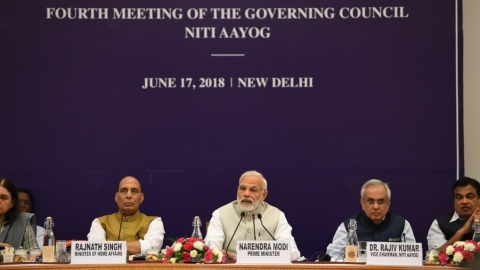 Congress slams PM's 'half truths' in Niti Aayog address