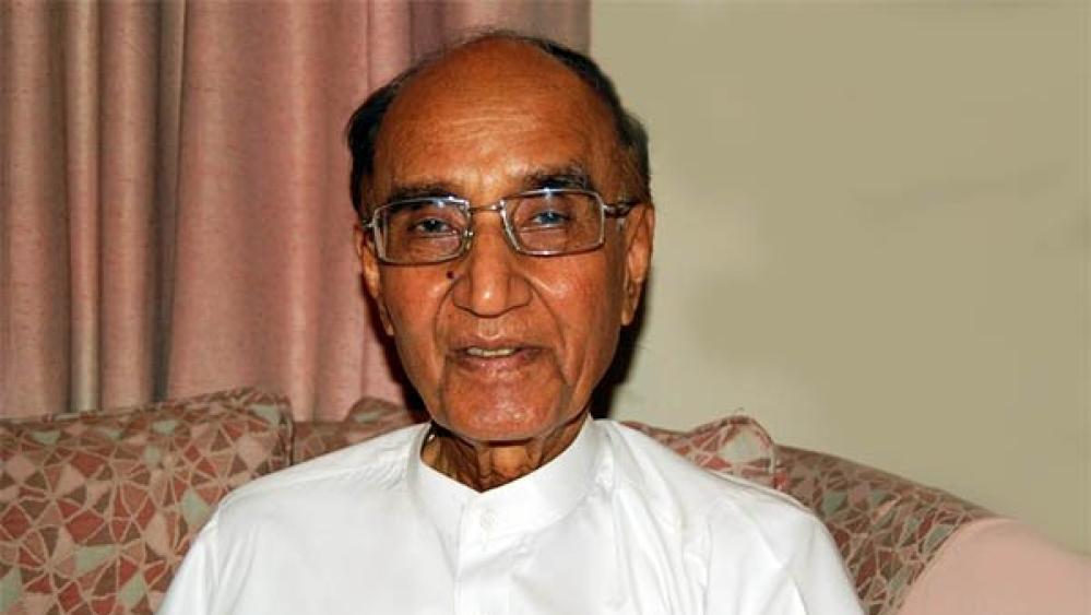 File photo of Mushtaq Ahmad Yusufi