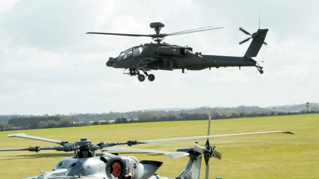 File photo of an Apache helicopter