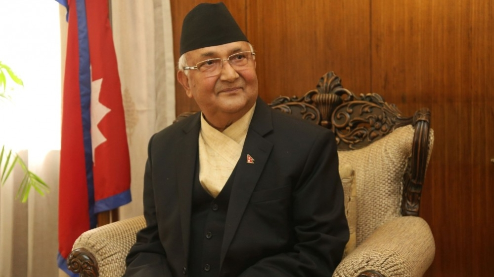 Nepalese Prime Minister Khadga Prasad Sharma Oli during an interview with Xinhua in Kathmandu on June 18, 2018, prior to his visit to China