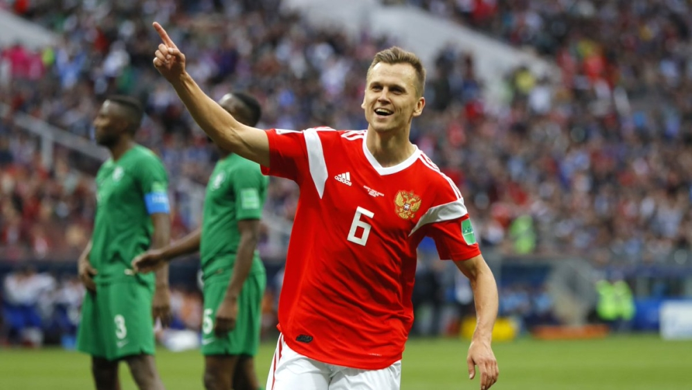 Substitute Denis Cheryshev scored two beautiful goals for Russia in the opening match of FIFA World Cup 2018
