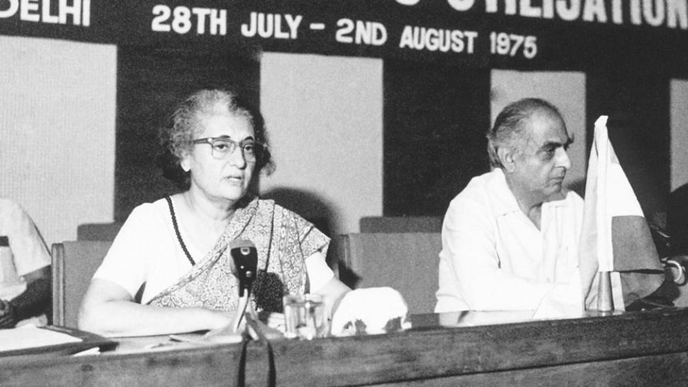 File photo of Indira Gandhi and PNHaksar