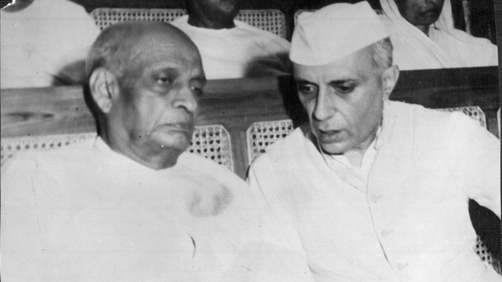 File photo of first Indian Prime Minister Jawaharlal Nehru with first Home Minister Sardar Vallabh Bhai Patel