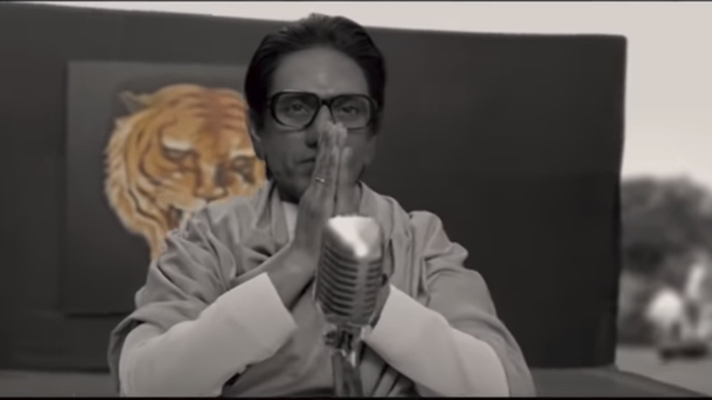 Nawazuddin as Bal Thackeray in the film Thackeray