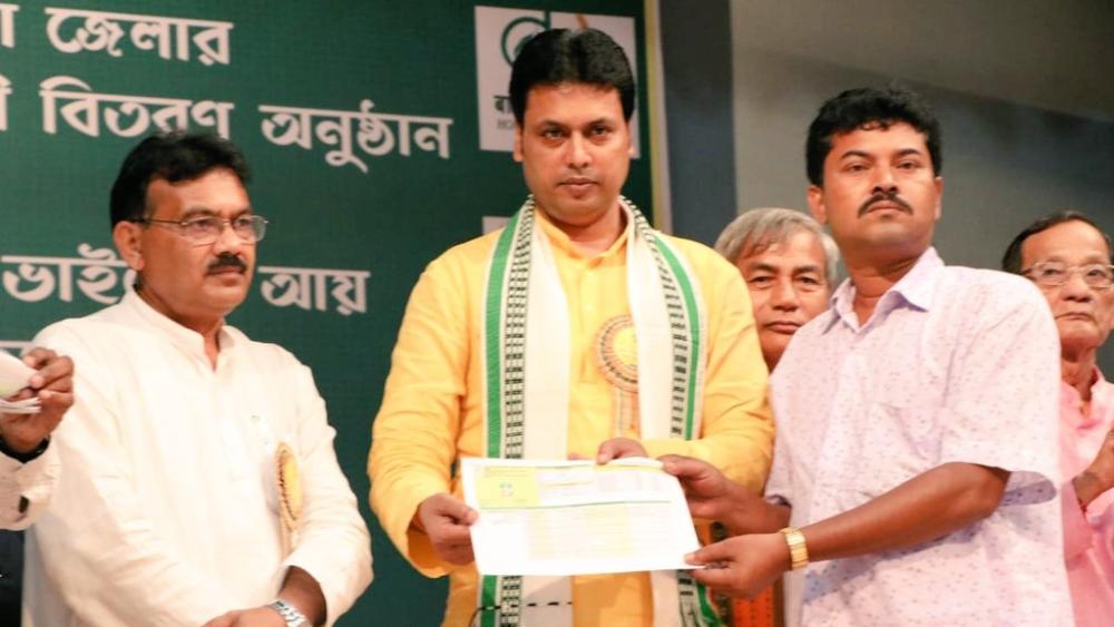 File photo of Tripura Chief Minister Biplab Deb
