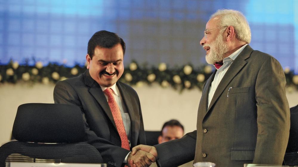 Gautam Adani with Prime Minister Narendra Modi. A file picture