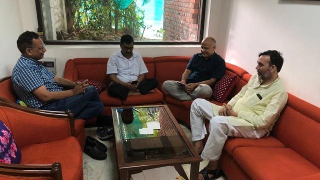 Delhi Chief Minister Arvind Kejriwal, Manish Sisodia, Satyendar Jain and Gopal Rai  waiting for LG A Baijal to respond to their demands.