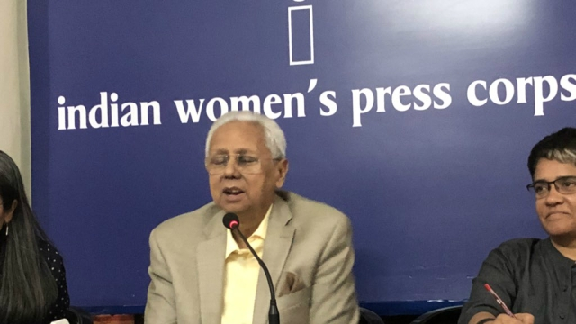 Bangladesh's High Commissioner to India, Syed Muazzem Ali, interacting with mediapersons in New Delhi on Thursday.