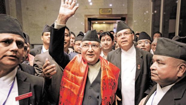 A file photo of Nepal PM KP Oli