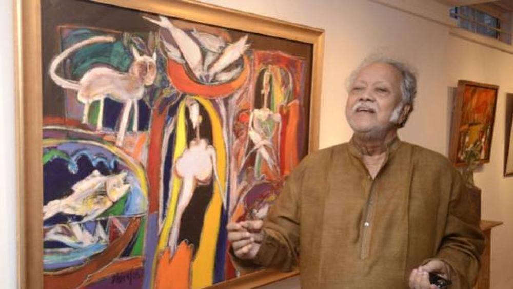 A file photo of artist-academic Dhiraj Choudhury