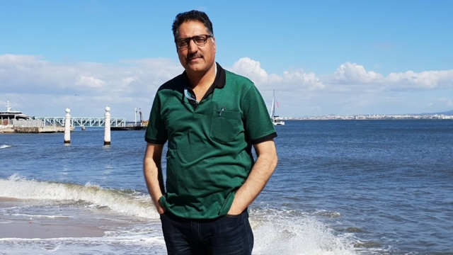 A photograph of Shujaat Bukhari, which he posted on his Facebook page a few days ago