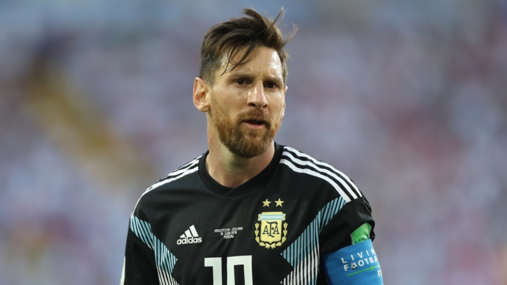 Lionel Messi, captain of Argentina's football team, reacts during a group D match at the 2018 FIFA World Cup in Moscow, Russia (file photo)