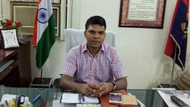 IPS officer Kunwar Anupam Singh, who was transferred for taking action against an RSS shakha