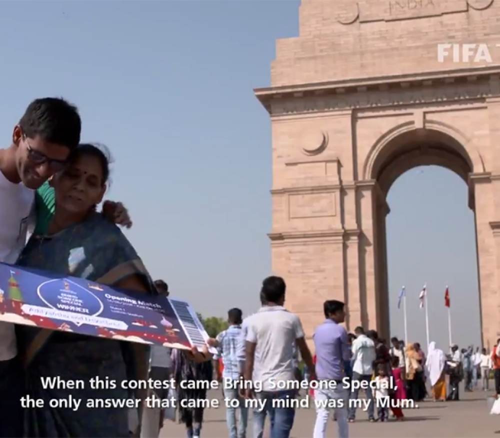 A dream came true for Indian football fan Adityanshu, who won FIFA's 'Bring Someone Special' contest and took his mother to Moscow to watch the opening game of the tournament