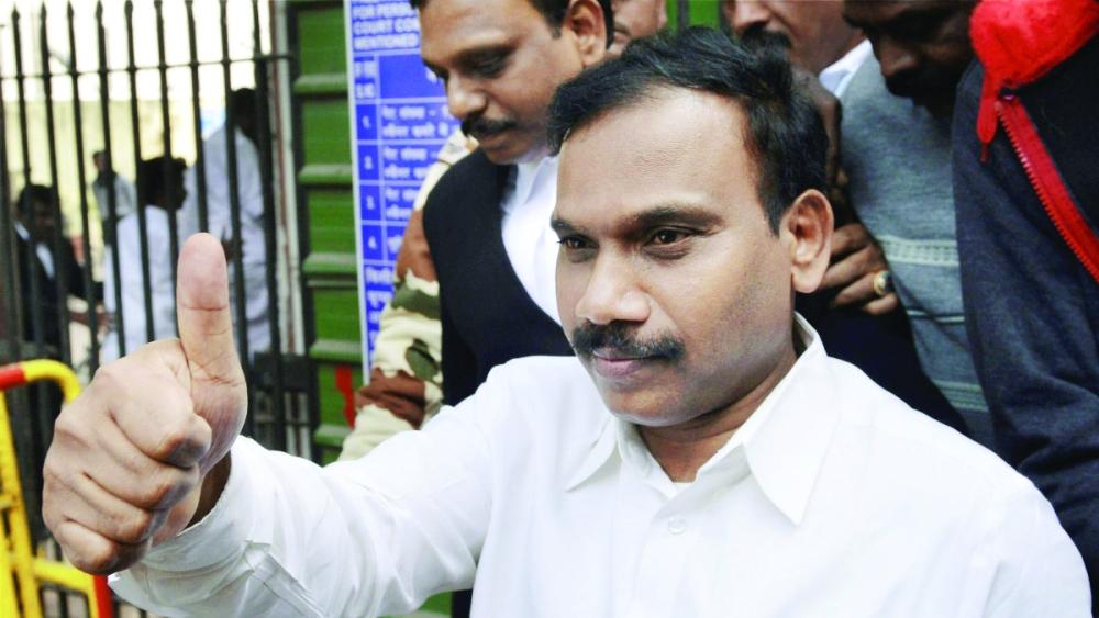 File photo of A Raja