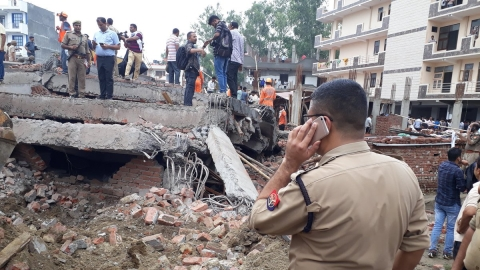 Ghaziabad: 5-storey under-construction building collapses, 1 dead