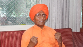 Swami Agnivesh during an interaction with NH