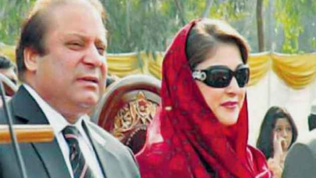 Pakistan Prime Minister Nawaz Sharif and his daughter Maryam (file photo)
