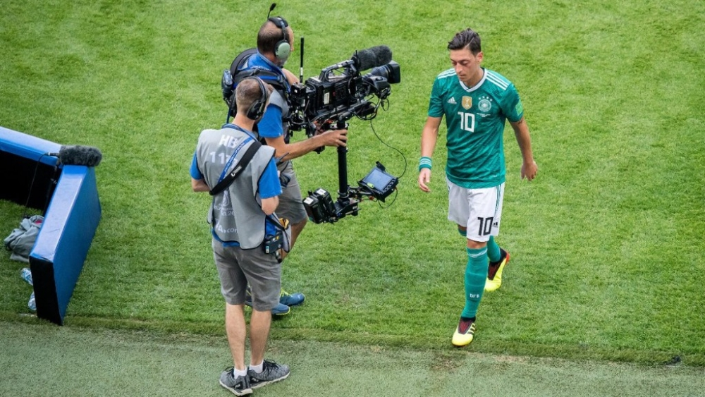 Mesut Özil leaves the field after Germany's group stage loss to South Korea during the recently concluded FIFA World Cup in Russia