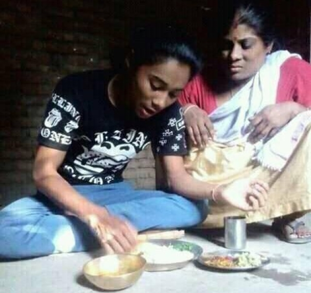 File photo of Hima Das with her mother Jomali
