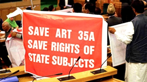Kashmir comes together to protest Centre's stand on Article 35A