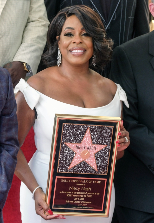 American actress Niecy Nash attends her star dedication ceremony at the Hollywood Walk of Fame in Los Angeles, the United States.