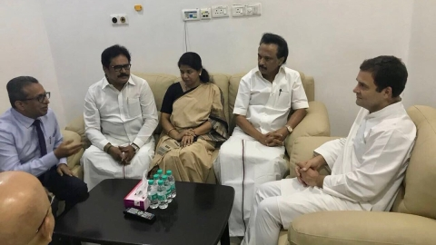 Karunanidhi will have to stay longer in hospital; Rahul Gandhi visits DMK chief